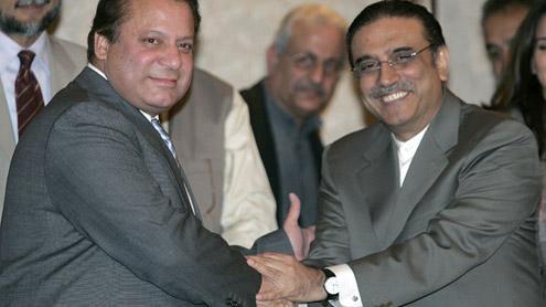 Asif Ali Zardari, Nawaz Sharif meet