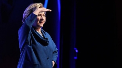 Shoe Thrown at Hillary Clinton during Speech