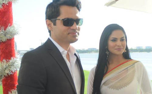 Veena Malik and  Asad Basheer Khan
