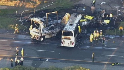 Truck in Orland Crash Slammed into Charter Bus