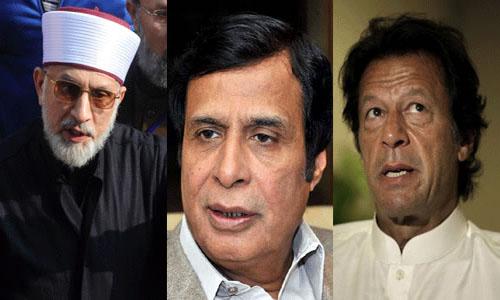 Grand alliance: Tahir-ul-Qadri, Pervaiz Elahi, Imran Khan Meet in London today