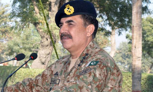 Gen Raheel assures Political Parties of Army Support