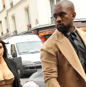 Kim Kardashian Kanye West hit Shops Matching Camel Coloured Outfits