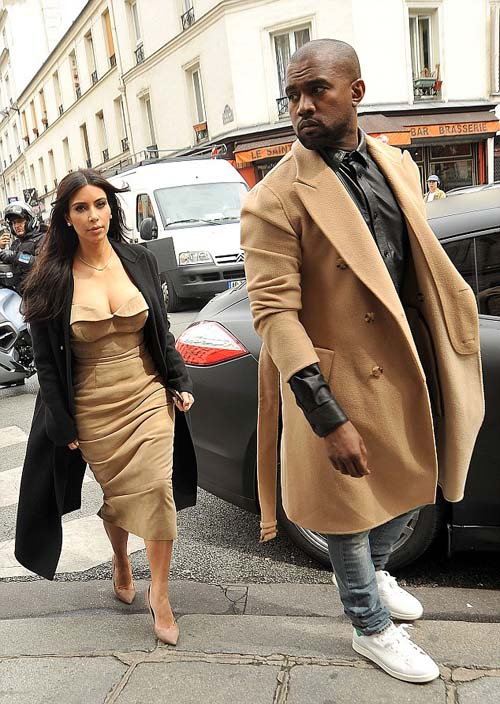 Kim Kardashian and Kanye West images