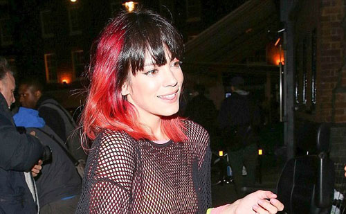 Lily Showed off her Newly Dyed red Hair at the Chiltern Firehouse
