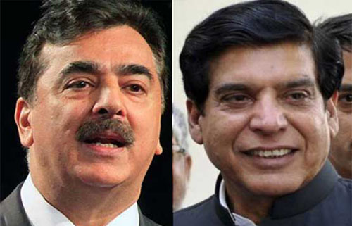 Yousaf Gilani and Pervaiz Ashraf images