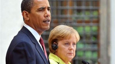 Obama, Merkel talks Focus on Ukraine as rebellion Spreads