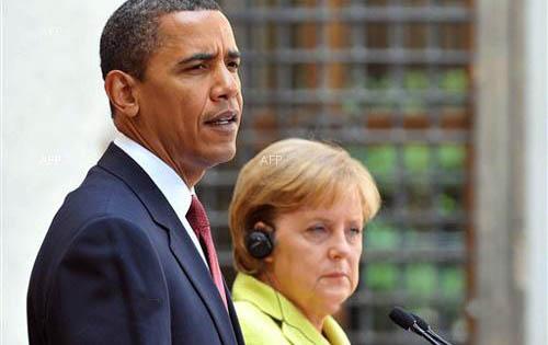 Obama, Merkel talks Focus on Ukraine as rebellion Spreads
