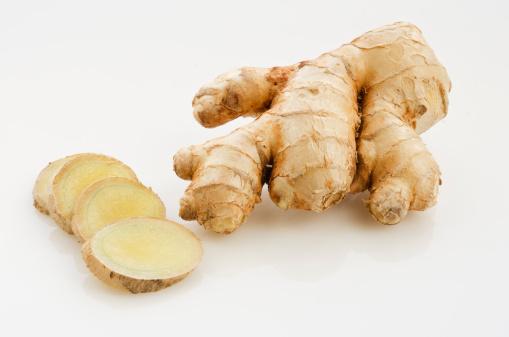 Ginger shot of fresh ginger