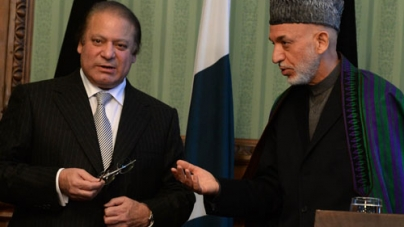Hamid Karzai Assures Nawaz Sharif of Help in Fighting Taliban