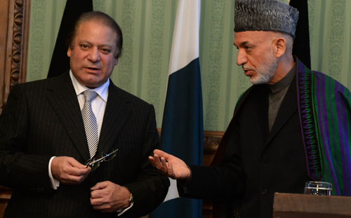 Nawaz Sharif and Hamid Karzai