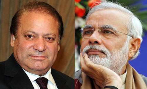 Nawaz Sharif and Narendra Modi photos