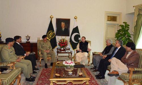 PM Nawaz Sharif Chairs High-Level Security Meeting