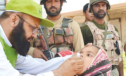 Children to Get Polio Drops in Khyber, Under Army Watch