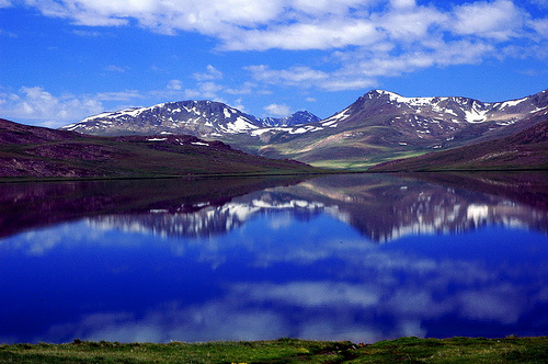 Sheosar Lake in Deosai National Park,
