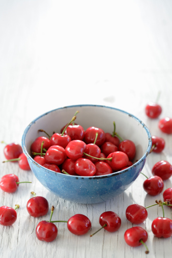 Cherries in bowl