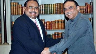 Zardari in London to Meet Altaf Hussain
