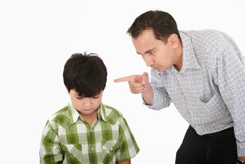 child listening to parents