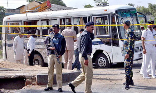 Four Injured as Suicide Bomber Hit Security Agency's Bus