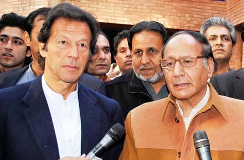 Imran Khan and Shujaat Hussain
