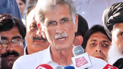 Pervez Khattak Threatens Long March Against Power Outages
