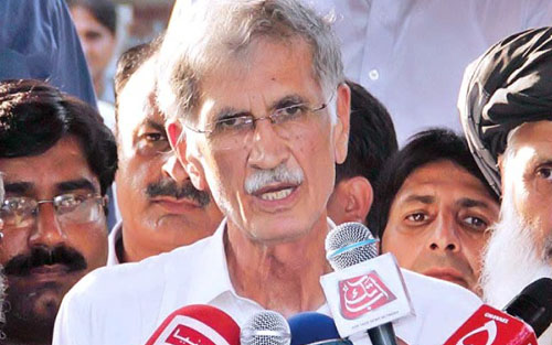 Pervez Khattak Asks People to Fully Participate in 'Azadi March'