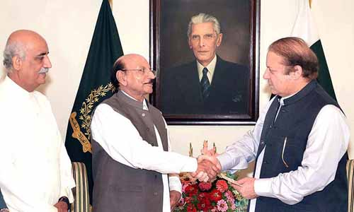 Qaim Ali Shah and Nawaz Sharif