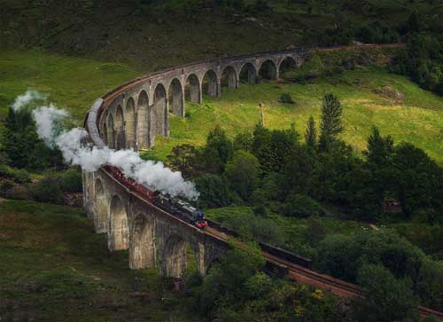 West Highland Line train passing