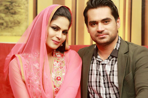 Asad Khattak and Veena Malik photos
