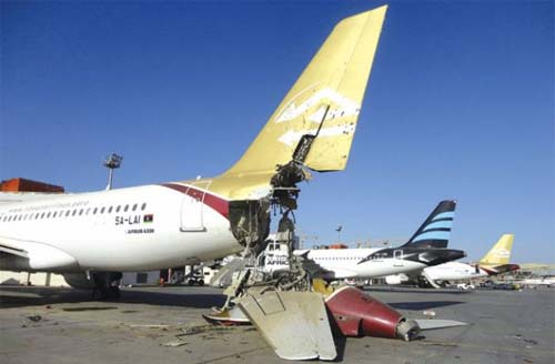 Libya Seeks Foreign Help As Rockets Fired at Airport