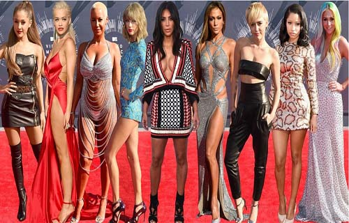 American Singer Miley Cyrus Wins Top MTV Music Award 2014