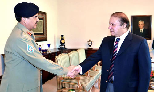 PM Nawaz meets Chief of Army Staff