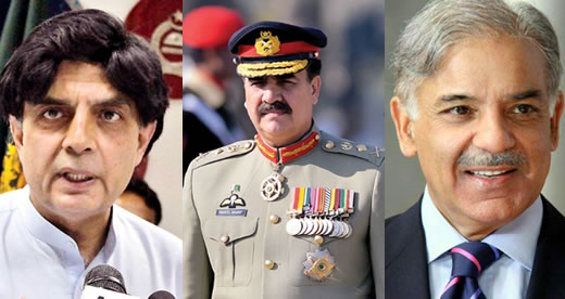 Nisar, Shahbaz meet General Raheel Sharif
