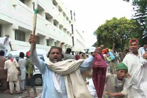 Protesters shut down PTV transmission, army called in