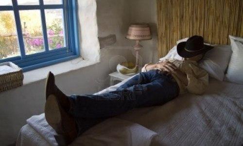 Men Taking Rest