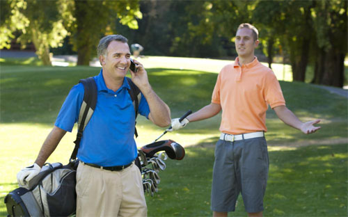 Cell Phone Golf Etiquette