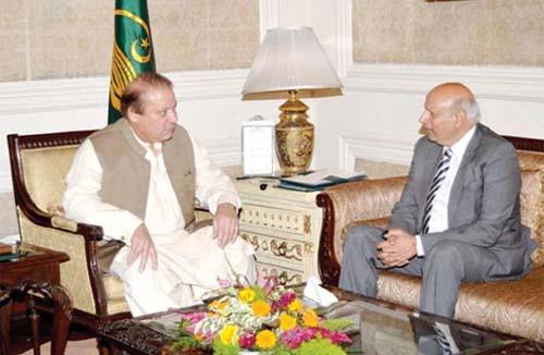 Nawaz Sharif and Muhammad Sarwar