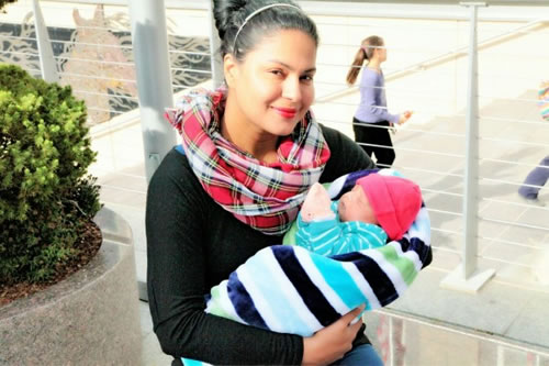 Veena Malik takes her Baby Boy Out