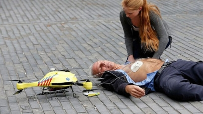 Ambulance Drone Save Life Flying Defibrillator Reach Speeds 60Mph