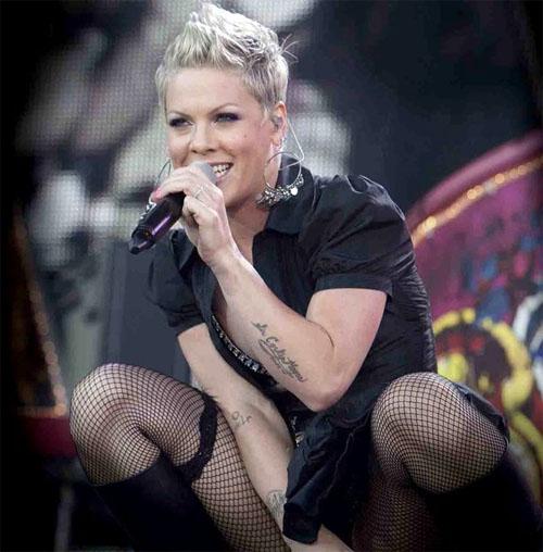 Pop singer Pink