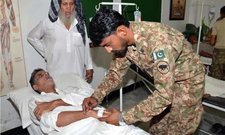 1100 Provided Treatment at Army Camps