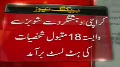 18 Showbiz Figures On Terrorist Hit List