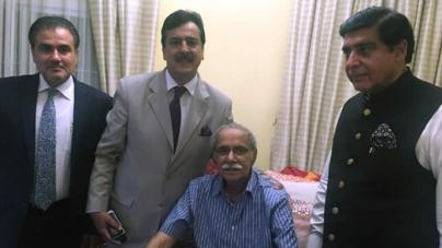 Ailing Amin Faheem reaches Karachi