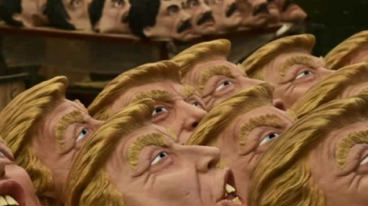 Chilling: Company plots Halloween killing with Trump masks
