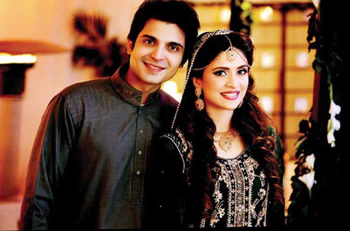 Arij Fatyma with her husband