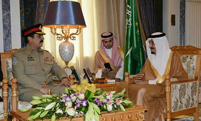 Army chief meets Saudi king, reaffirms support for kingdom