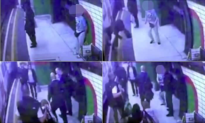 Muslim Female Pushed in Front of a Train in London