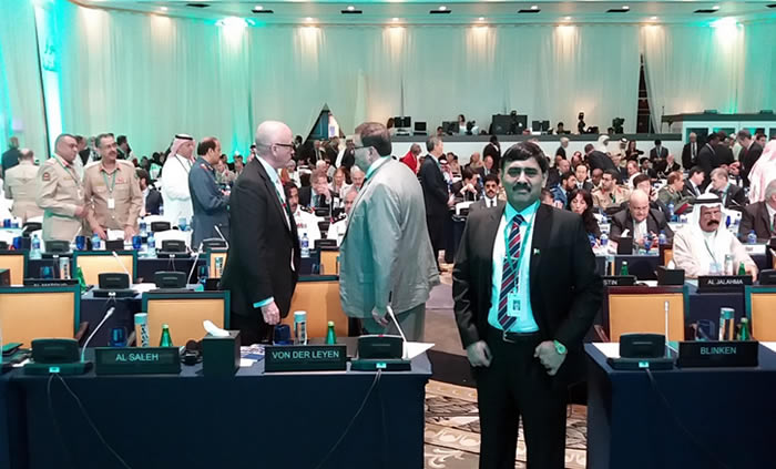 Nadir Mir of pakistan attends Security Summit in Bahrain