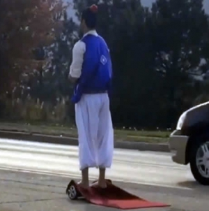 Pakistani-American's Aladdin magic carpet video goes viral