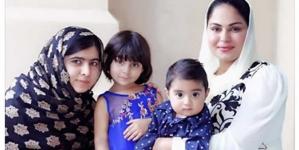 Veena Malik Meets Malala Yousafzai in UAE